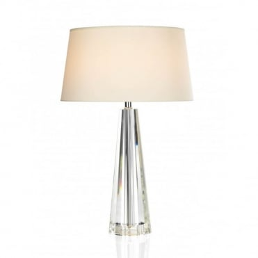 CYPRUS - Table Lamp Tapered Crystal Complete With Cyp1233 Shade