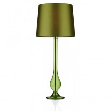 DILLON - Transparent Sage Green Glass Table Lamp