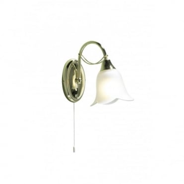 DOUBLET - Brass Wall Light Switched