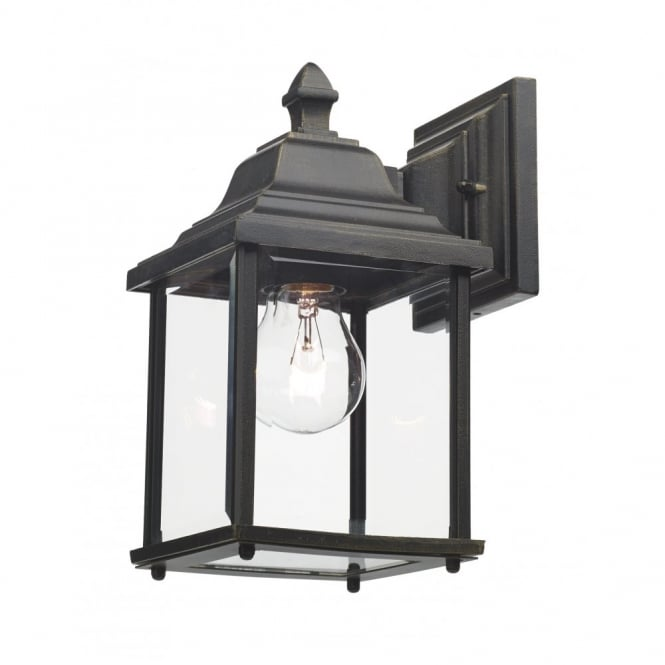 DOYLE - Exterior Double Insulated Black Gold Garden Wall Lantern