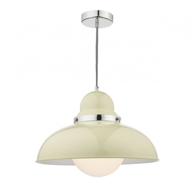 DYNAMO - 1 Light Ceiling Pendant Cream Large Cream