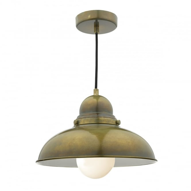 DYNAMO - 1 Light Ceiling Pendant Weathered Brass