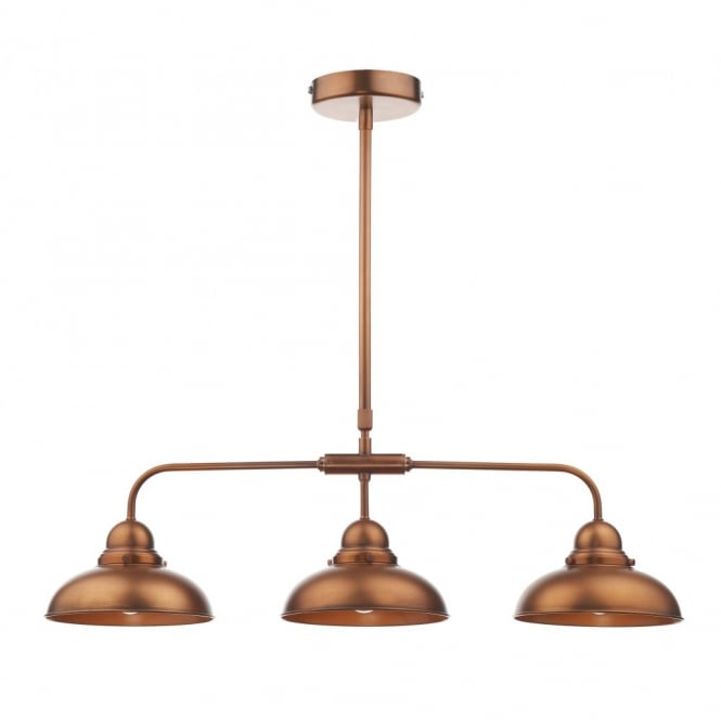 The Lighting Book DYNAMO - Antique Copper 3 Light Bar Pendant Light