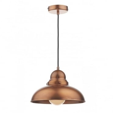 DYNAMO - Antique Copper Single Pendant Light