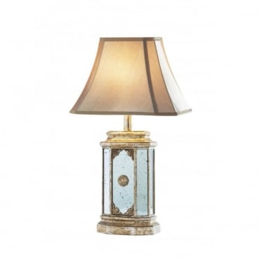 EIDETIC - Table Lamp Medium Antique Gold Mirr0R Included Shade
