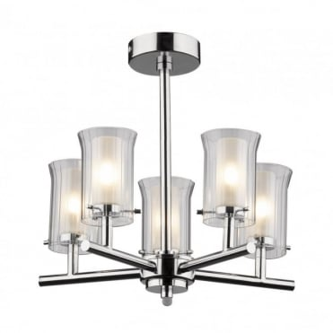ELBA - Bathroom Ceiling Light Semi-Flush 5 Arm
