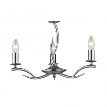 ELKA - Double Insulated Satin Chrome Low Ceiling Light