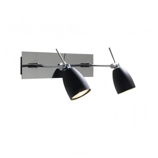 EMPIRE - Black and Chrome Twin Wall Spotlights