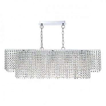 ENNIS - 5 Light Bar Ceiling Pendant Polished Chrome Clear
