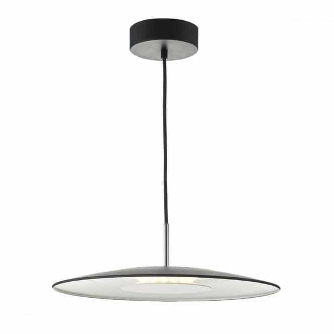 ENOCH - Black and Satin Chrome LED Ceiling Pendant