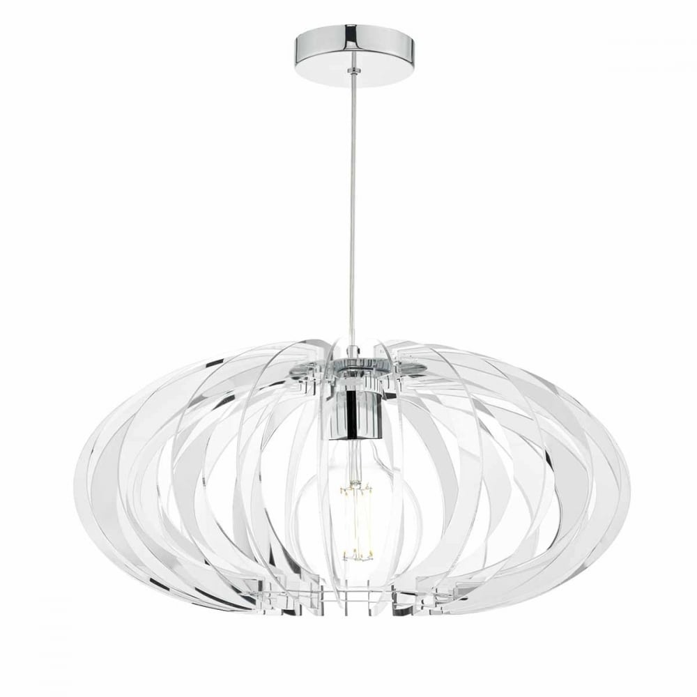 Enzo chrome and mirrored acrylic pendant light lighting and lights uk enzo chrome and mirrored acrylic pendant light aloadofball Gallery