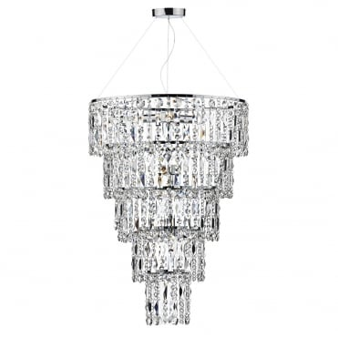 ESCALA - 6 Light Round Crystal Ceiling Pendant