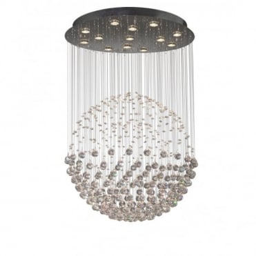 EXCELSIOR - Large Crystal Feature Ceiling Light