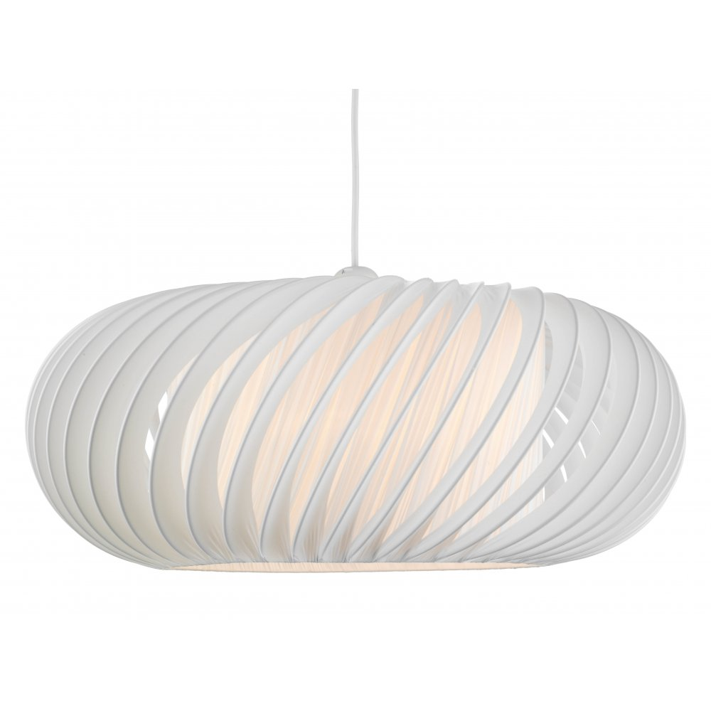 Contemporary Large White Easy Fit Ceiling Pendant Shade