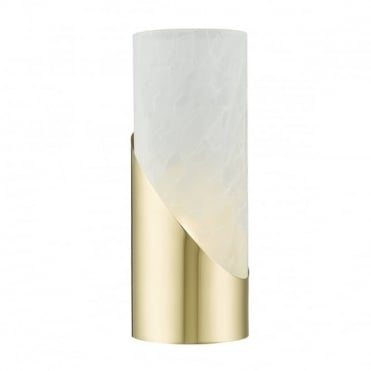 FARIS - Touch Dimmer Table Lamp In Gold And Alabaster Effect Glass