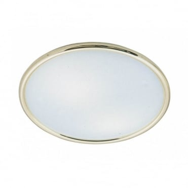 FLASH - Low Energy Flush Ceiling Fitting Opal Glass Ceiling Light Gold Surround