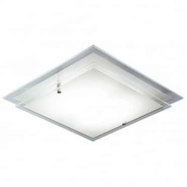FRAME - Flush Fitting Square Halogen Ceiling Light