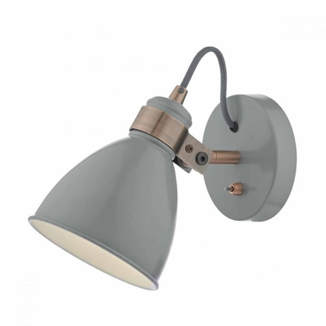 FREDERICK - Grey Copper Wall Light
