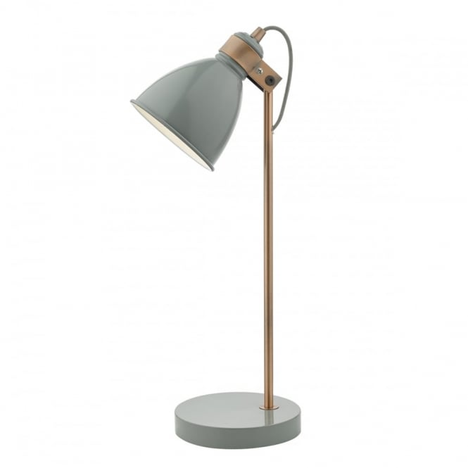FREDERICK - Table Lamp Gloss Grey/Copper Grey