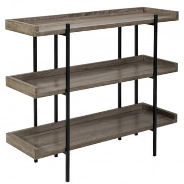 FURNITURE - Lundberg Three Shelf Oak Veneer
