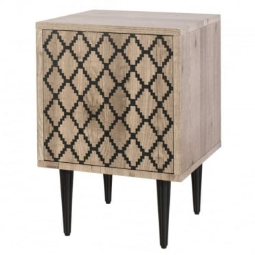 FURNITURE - Vladimir Side Cupboard Diamond Motif