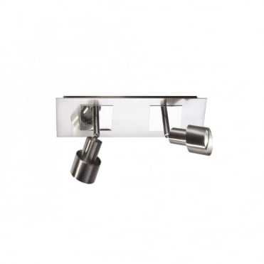 FUTURA - Adjustable Satin Chrome Twin Wall Spotlights