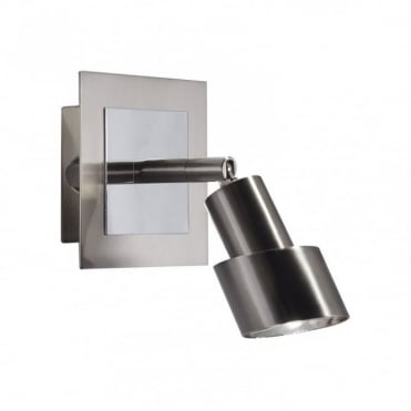 FUTURA - Single Satin Chrome Wall Spotlight