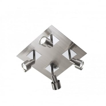 FUTURA - Square Ceiling Light With 4 Spotlights