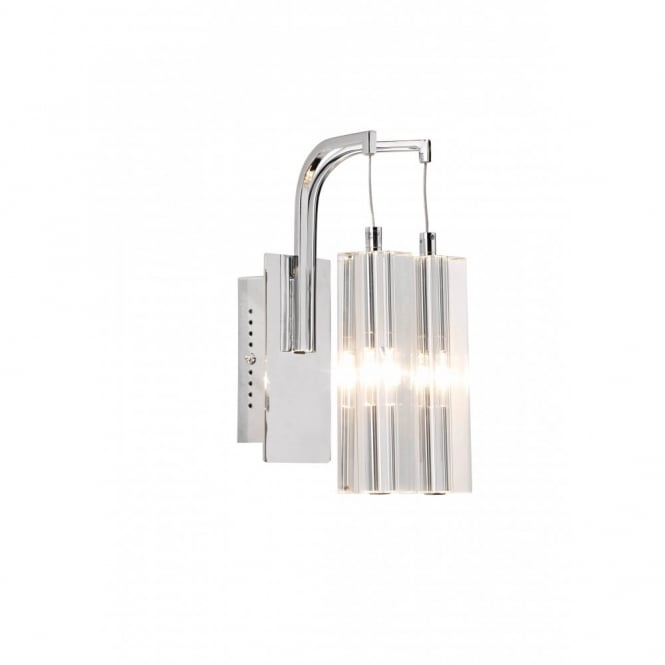 GALILEO - Double Insulated Twin Wall Light In Crystal and Chrome