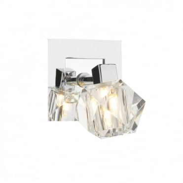 GEO - Adjustable Chrome Crystal Wall Spotlight