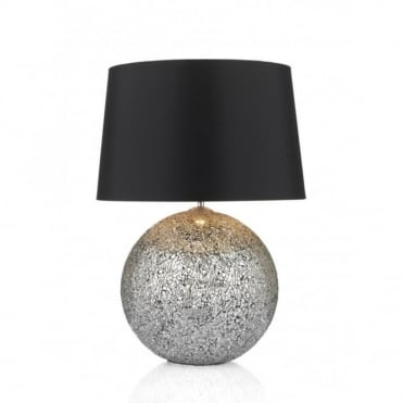 GLITTER - Ball Table Lamp Medium Complete With Black Shade