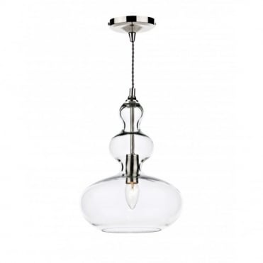 GOA - Clear Glass Long Drop Ceiling Pendant
