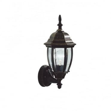 HAMBRO - Exterior Uplighter Wall Bracket Black Gold