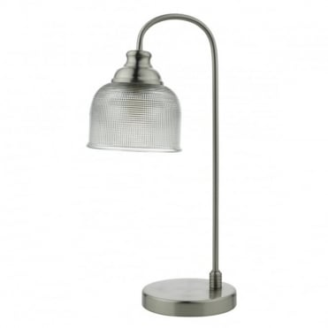 HECTOR - Satin Nickel C/W Shade Table Lamp