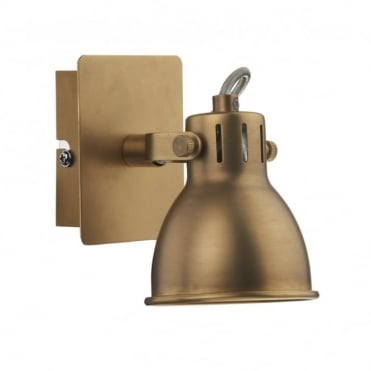 IDAHO - Single Brass Coloured Wall Spotlight