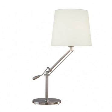 INFUSION - Table Lamp Satin Chrome Complete Complete With Shade Inf102