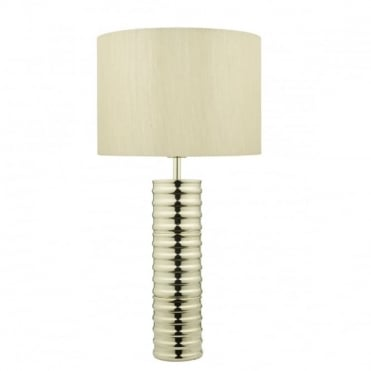 INSARA - Modern Gold Table Lamp Complete With Shade
