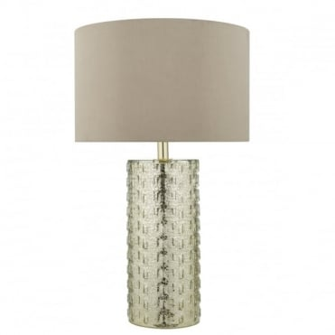IPANIMA - Pewter Glass Table Lamp With Shade