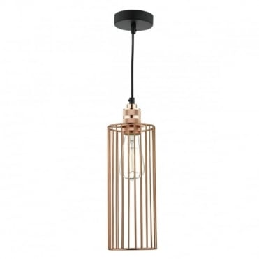 JEB - 1 Light Cage Pendant Copper Pendant