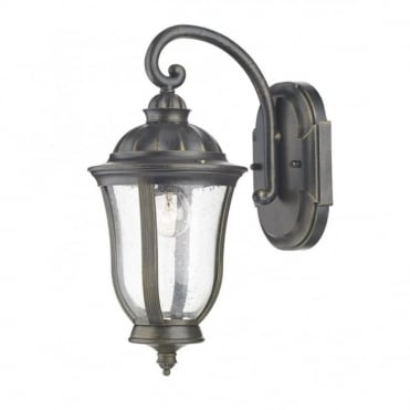 JOHNSON - Exterior Black Gold Traditional Garden Lantern
