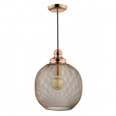 KEATON - 1 Light Ceiling Pendant Copper Copper