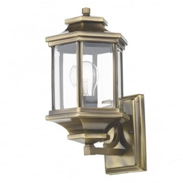 LADBROKE - Exterior Antique Brass Garden Wall Lantern Ip44