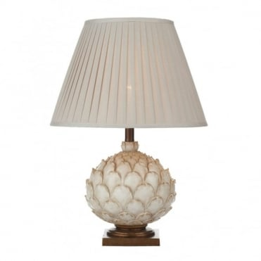 LAYER - Artichoke Cream Table Lamp With Shade (Large)