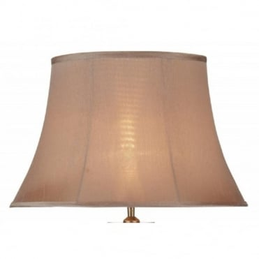 LEAF - Mink Coloured Faux Silk Table Lamp Shade
