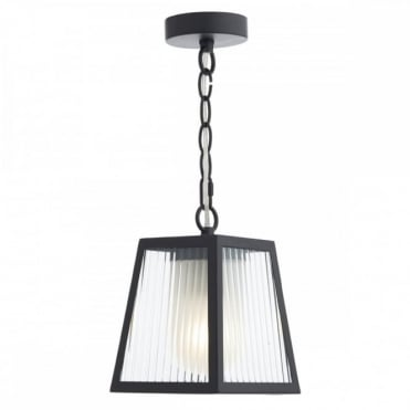 LIMASSOL - Exterior 1 Light Pendant Black Ip44