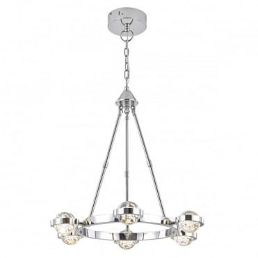 LIVIA - LED 6 Light LED Ceiling Pendant In Polished Chrome
