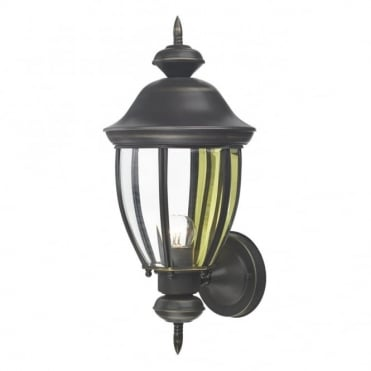 LODGE - Antique Brass Garden Wall Lantern