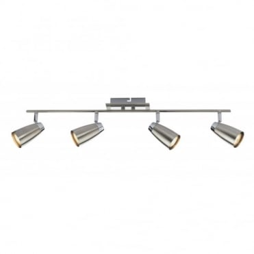 LOFT - 4 Light Ceiling Spot Light Bar Satin Chrome Finish