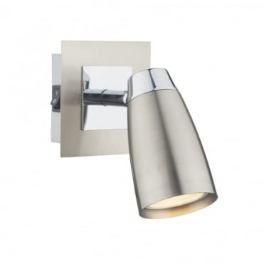 LOFT - Double Insulated Low Energy Satin Chrome Wall Spotlight