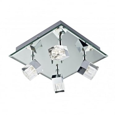 LOGIC - BathroomLED 4 Light Plate Polished Chrome LED Ip44